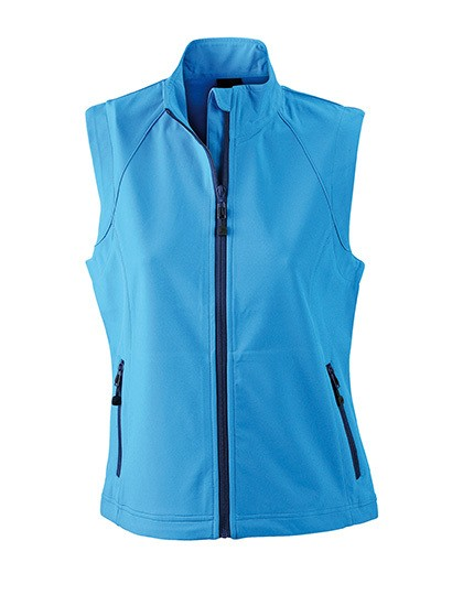 JN1023 James+Nicholson Ladies`Softshell Vest