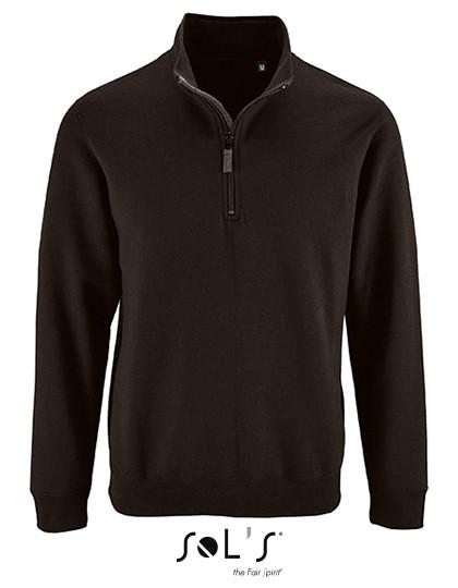 L02088 SOL´S Mens Zip High Collar Sweatshirt Stan