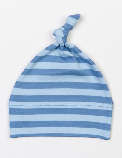 BZ15S Babybugz Baby Stripy One Knot Hat