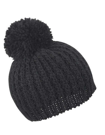 RC162 Result Winter Essentials Knitted Flute Pom Pom Hat