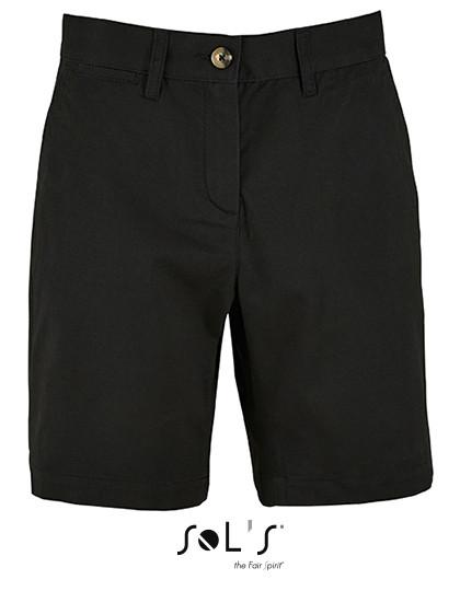 L02762 SOL´S Womens Chino Bermuda Shorts Jasper