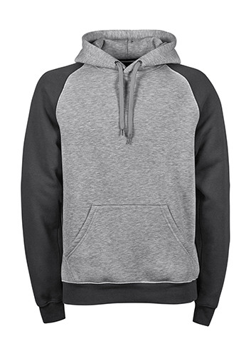 TJ5432 Tee Jays Two-Tone Hooded Sweatshirt