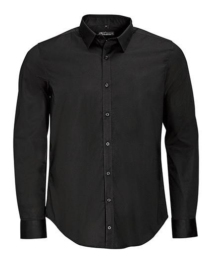L01426 SOL´S Men`s Long Sleeve Stretch Shirt Blake