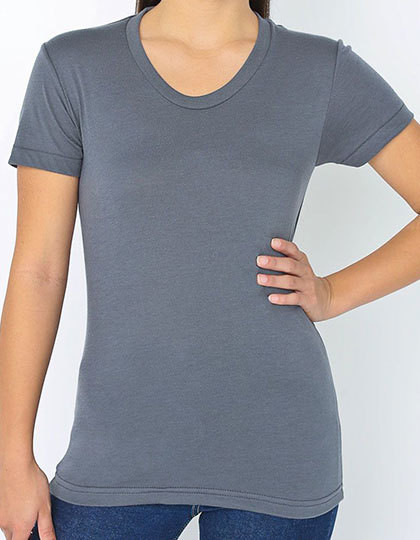 Am3010 American Apparel Women S Poly Cotton Crew Neck T Shirt Online