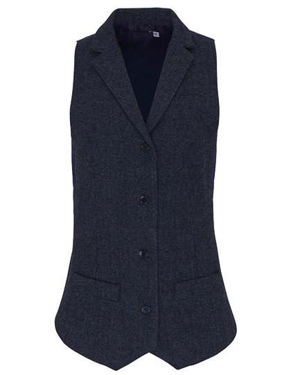 PW626 Premier Workwear Ladies Herringbone Waistcoat